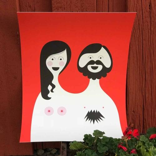Isak Blossom & Bill poster
